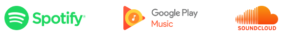 Homey Music supports Spotify, Google Play and Soundcloud