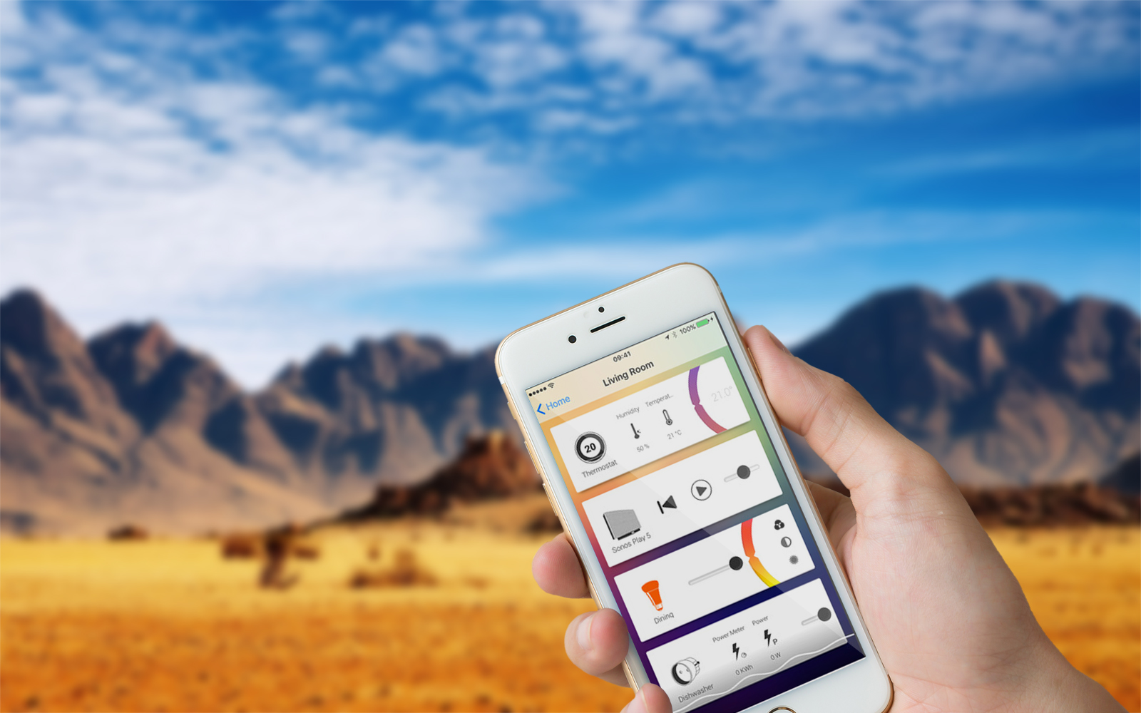 use homey smartphone app anywhere in the world
