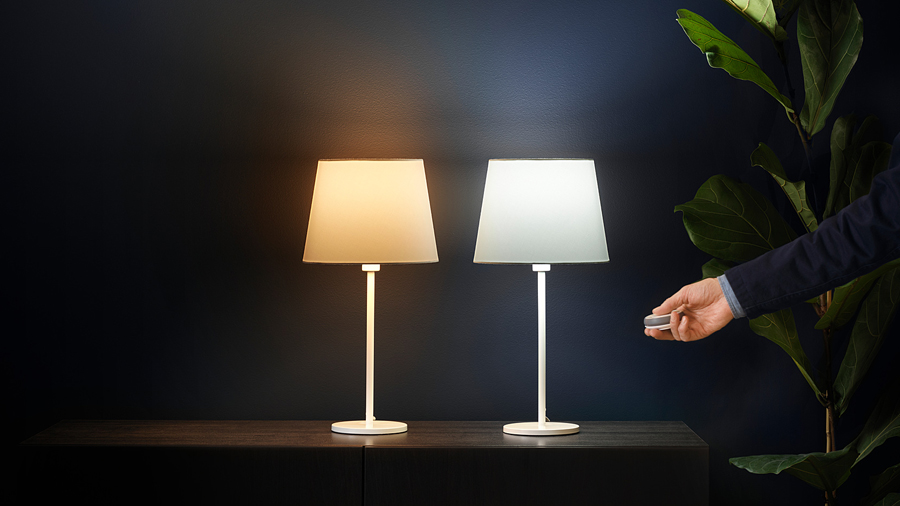 white dimmable vs. tunable zigbee lamps, by ikea trådfri