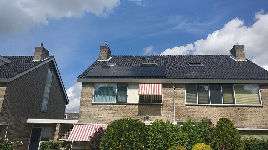 solar panels at diederik's parents' home