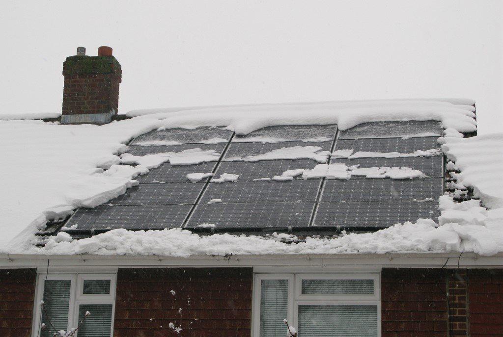 zonnepanelen werken ook in de winter / solar panels also work during the winter