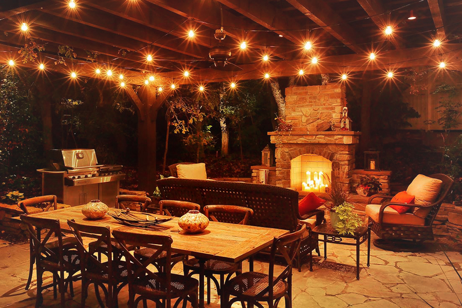 take your party outside with smart home devices