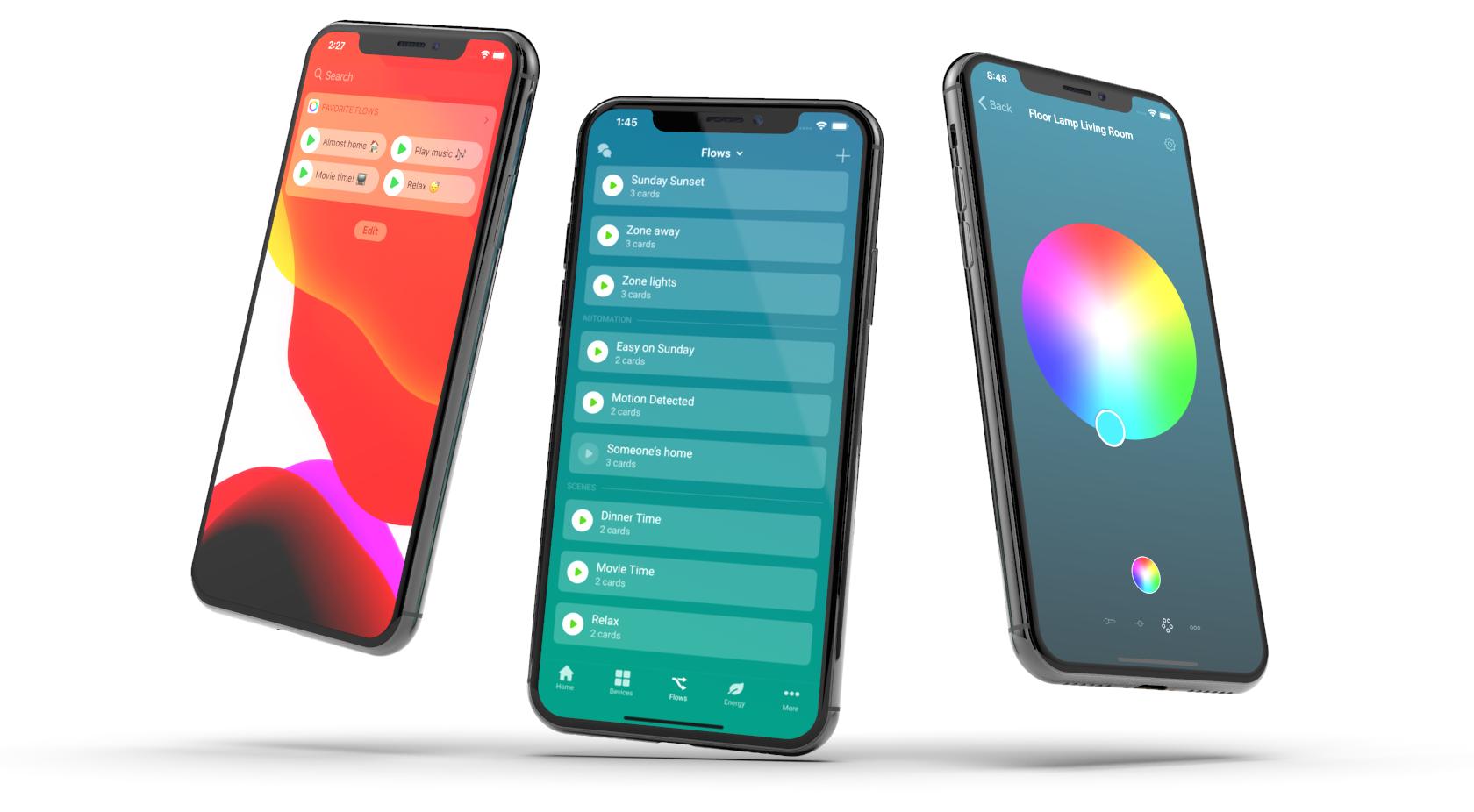Homey App Flows Widget RGB Bulb