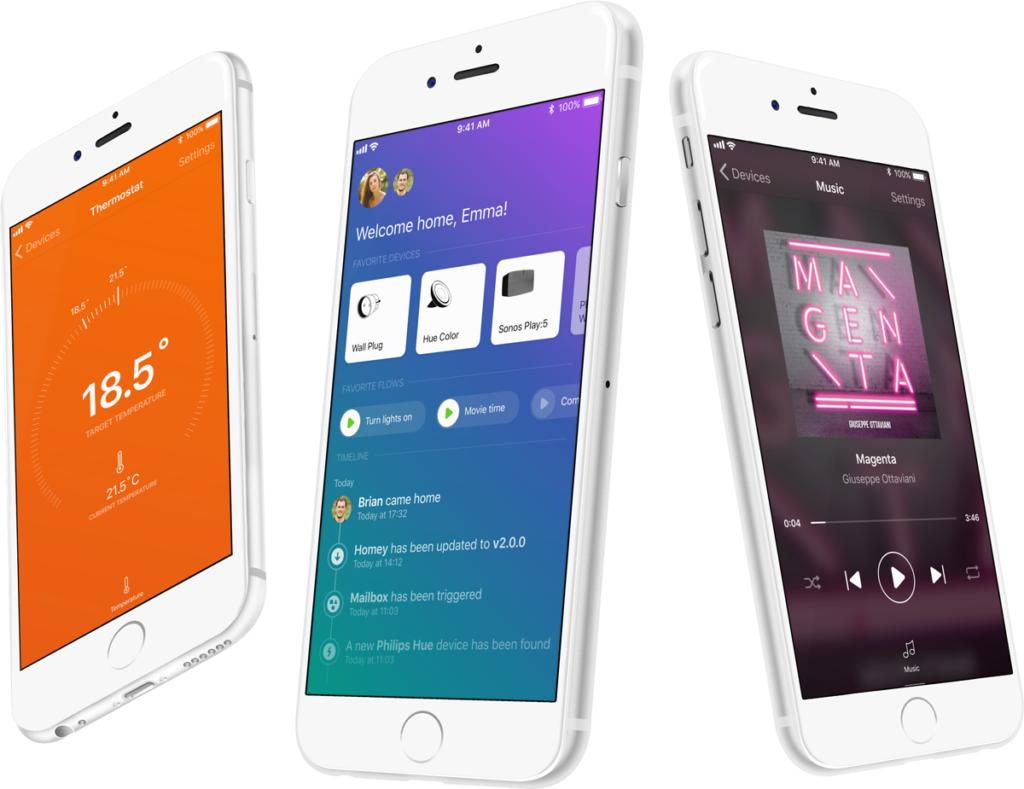 app domotica systeem Homey